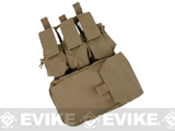 TMC MOLLE Assault Back Panel (Color: Coyote Brown)