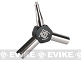 Evike.com Precision Stainless Steel Airsoft GBB Triple Gas Valve Key