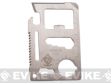 Evike.com Stainless Steel CNC Credit Card Sized Multi-Tool (Color: Silver)
