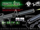 Evike Night Fire Dual Sensor Airsoft Auto Tracer / Mock Silencer Barrel Extension (Thread: Positive)