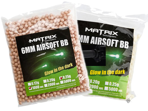 Matrix Match Grade 6mm Glow-in-the-Dark Airsoft Tracer BB