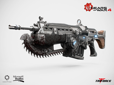 Triforce Limited Edition Officially Licensed Gears of War 4 Lancer Mark 2 Full Scale Replica Rifle