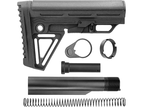 Trinity Force Alpha Retractable Stock Kit Combo for AR15 Series Rifles (Color: Black)
