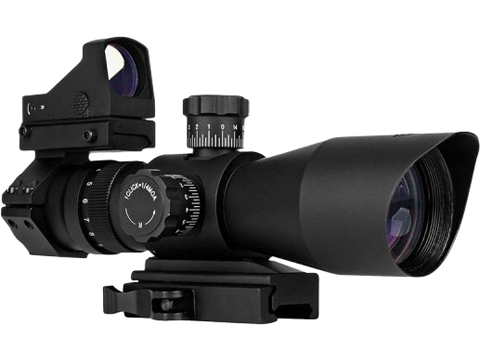 Trinity Force Recon-1 3-9x42 Illuminated Tactical QD Scope (Red/Green/Blue) w/ Micro Dot (Reticle: Mil-Dot)