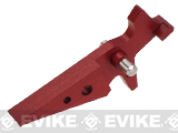 Retro Arms CZ Custom CNC Aluminum Trigger for M4 / M16 Series Airsoft AEG Rifles - Red
