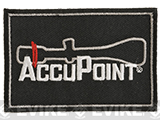 Trijicon Accupoint Hook and Loop Morale Patch - Black
