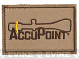 Trijicon Accupoint Hook and Loop Morale Patch - Khaki