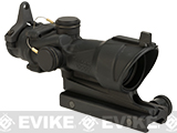 Trijicon ACOG 4x32 Scope with Amber Center Illumnination with Flat Top Adapter and Back-up Iron Sights