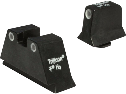 Trijicon Bright & Tough Suppressor Height Tritium Front & Rear 3 Dot Night Sights (Model: Green / GLOCK 20, 21, 29, 30, 41)
