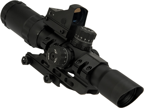 Trinity Force Assault II 1-4x28 Illuminated Tactical QD Scope with Mil-Dot Reticle