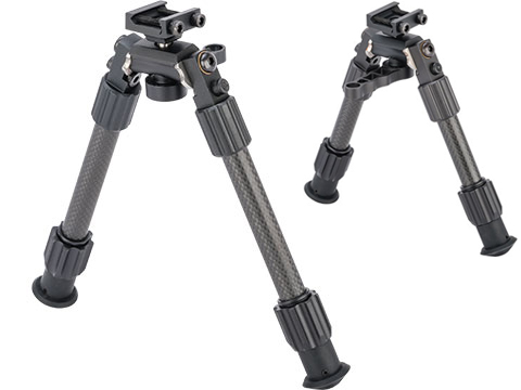 TruGlo Tac-Pod Pro Adjustable Carbon Fiber Bipod w/ Pivoting Picatinny Rail Mount
