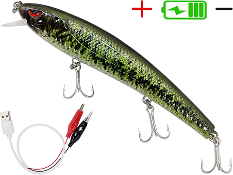 Truscend JerkQueen Electronic Twitching / Luminating Sinking Minnow Lure (Model: Sexy Bass)