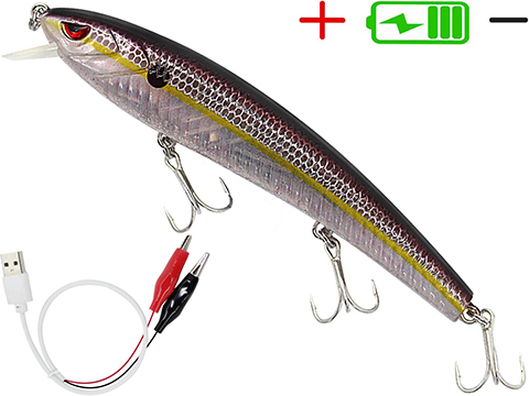 Truscend JerkQueen Electronic Twitching / Luminating Sinking Minnow Lure (Model:  Brown Shad)