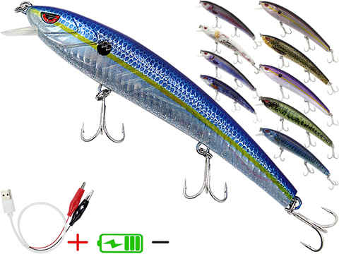 Truscend JerkQueen Electronic Twitching / Luminating Sinking Minnow Lure