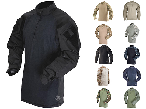 Tru-Spec Tactical Response Uniform 1/4 Zip Combat Shirt (Color: Black / Small)