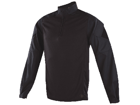 Tru-Spec Urban Force TRU 1/4 Zip Combat Shirt (Size: Black / Medium)