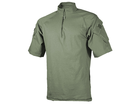 Tru-Spec Short-Sleeve Tactical Response Uniform 1/4 Zip Combat Shirt  (Size: OD Green / Small)