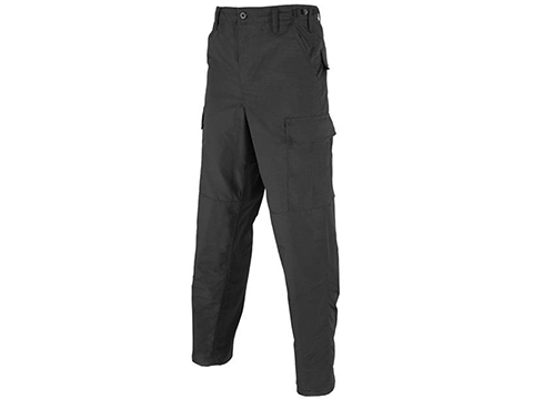 Tru-Spec 65/35 Poly Cotton Rip-Stop BDU Pants (Color: Black / Small-Regular)
