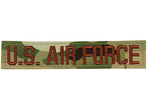 Tru-Spec U.S. Air Force Fabric Name Tape Patch (Color: Scorpion)