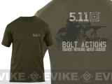"z 5.11 Tactical ""Bolt Actions Speaks Louder Than Words"" Tshirt - Large"