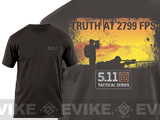 "5.11 Tactical ""Truth At 2799 FPS"" Logo Tshirt - XXL"