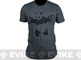 Salient Arms Panda Screen Printed Cotton T-Shirt (Size: Mens Large)