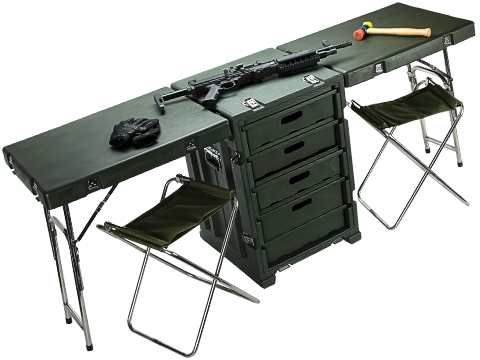 Phantom Gear / Tsunami Field Desk Portable Folding Table, Cabinets, and Chairs