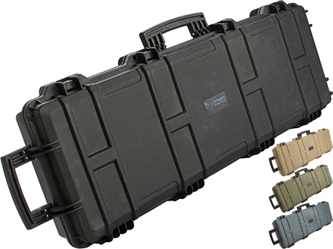 (NEW YEAR'S EPIC DEAL!!!) EMG Transporter Lockable 42 Hard Case w/ low-profile wheels & PnP foam (Color: Matte Black)