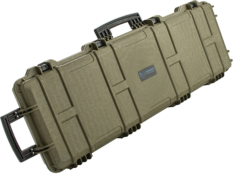 EMG Transporter Lockable 42 Hard Case w/ low-profile wheels & PnP foam (Color: Military Green)