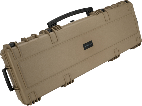Evike.com Armory 45 Waterproof Rolling Hard Shell Locking Gun Case w/ Custom Grid Foam (Color: Tan)