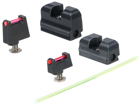 Taran Tactical Innovations Ultimate Fiber Optic Sight Set for GLOCK MOS Pistols