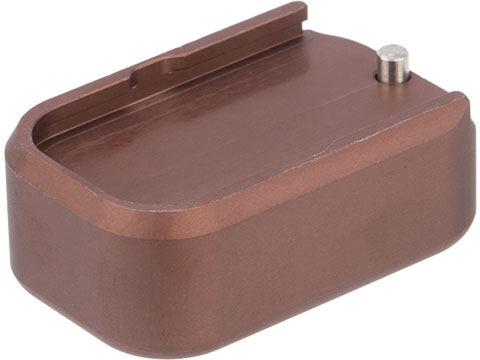 Taran Tactical Innovations Extended +0 Base Pad for GLOCK 9mm/.40 Pistol Magazines (Color: Coyote Bronze)