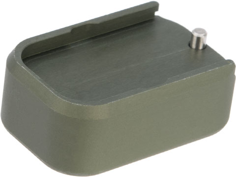 Taran Tactical Innovations Extended +0 Base Pad for GLOCK 9mm/.40 Pistol Magazines (Color: OD Green)