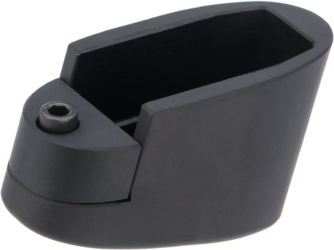 Taran Tactical Innovations Extended +1/2 Base Pad for Smith and Wesson M&P Shield 9mm / .40 S&W Mags (Color: Flat Black)