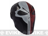 Evike.com R-Custom Fiberglass Wire Mesh Two Face - Skull Mask