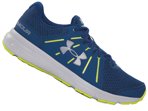 Under Armour Dash RN 2 Running Shoe - Blackout Navy / Smash Yellow / White