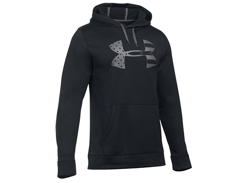 Under Armour UA Freedom Storm Tonal Big Flag Logo Hoodie (Size: L / Black)