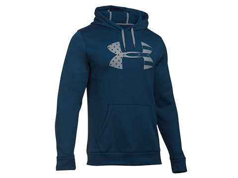 Under Armour UA Freedom Storm Tonal Big Flag Logo Hoodie (Size: L / Steel)