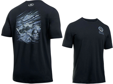 Under Armour UA Freedom By Sea Graphic Short Sleeve Tee (Size: Black - Large)