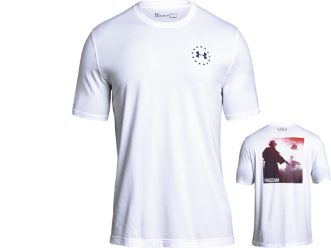 Under Armour UA Freedom Isn't Free T-Shirt (Size: White / Large)