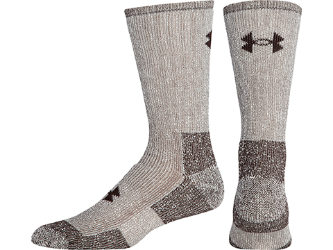 Under Armour UA Ourdoor Boot Crew Sock (Color: Brown Marl / Medium)