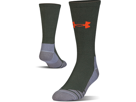 Under Armour Men's UA Hitch Lite 3.0 Boot Sock (Color: Combat Green - Volcano / Medium)