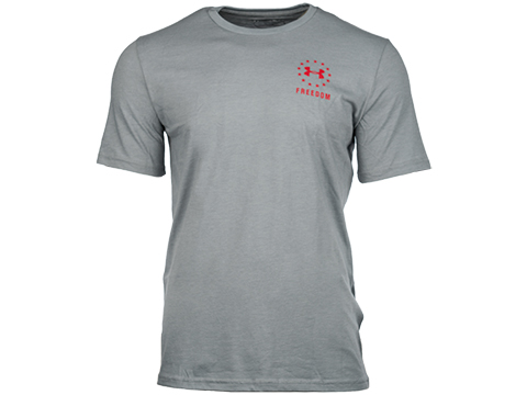 Under Armour Men's UA Freedom Logo T-Shirt (Color: Steel Medium Heather / Small)