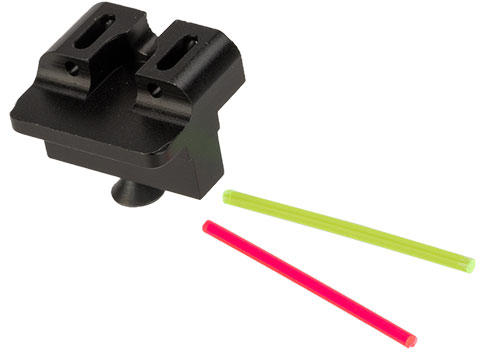 Dynamic Precision Fiber Optic Rear Sight for ISSC M22, SAI BLU, Lonewolf, & Compatible Airsoft Gas Blowback Pistols