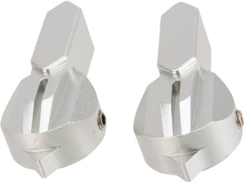 Dynamic Precision CNC Aluminum Selector Switch Set for WE SCAR Gas Powered Rifle (Type: A / Silver)