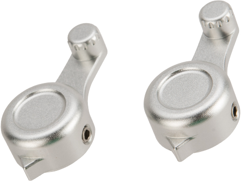 Dynamic Precision CNC Aluminum Selector Switch Set for WE SCAR Gas Powered Rifle (Type: B / Silver)