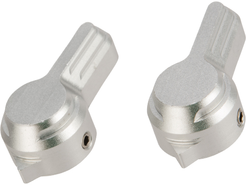 Dynamic Precision CNC Aluminum Selector Switch Set for WE SCAR Gas Powered Rifle (Type: C / Silver)