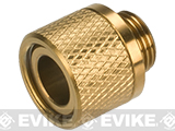 UAC Stainless Steel Threaded Silencer Adapter (11mm to 14mm) - Gold