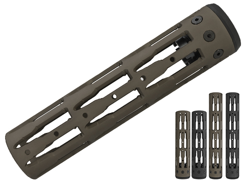 Unique ARs CNC Machined Bullet Handguard for AR15 Pattern Rifles (Color: Black / 9 / Rail Only)