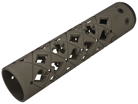 Unique ARs CNC Machined Vegas Handguard for AR15 Pattern Rifles (Color: Flat Dark Earth / 9 / AR15 Barrel Nut)